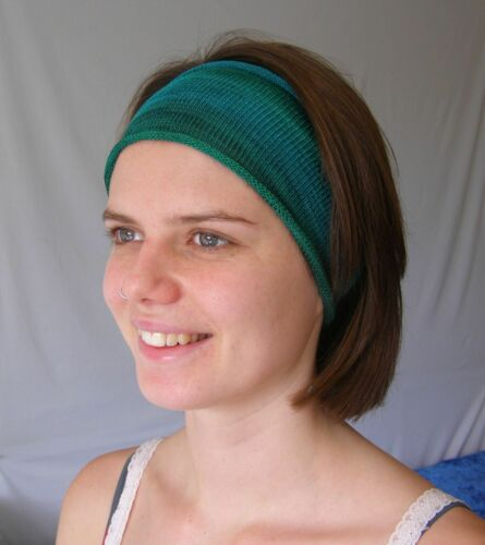 Forrest Earth Hand Dyed Cotton Headbands Neck Scarf Hairband  Soft wearable art