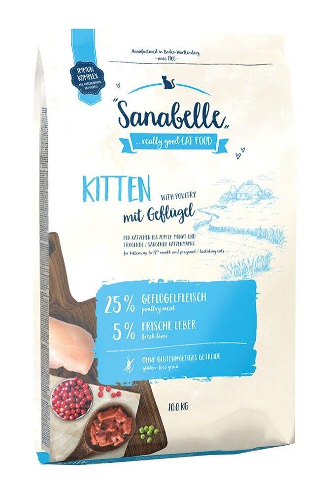 Sanabelle Kitten con pollame 10kg foraggi essiccati per gatti