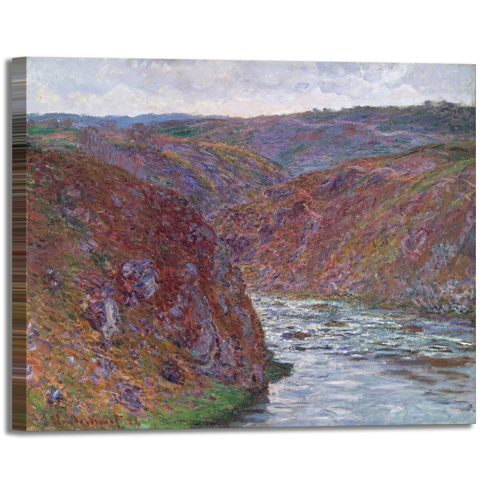 Monet valle della Creuse design quadro stampa tela dipinto telaio arroto casa