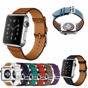 Single-Tour-Leather-Watch-Band-Strap-For-Apple-Watch-iWatch-Series-3-2-1-38-42mm