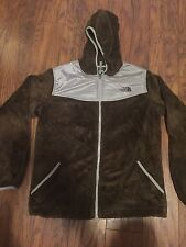 North Face Girl's Brown Gray Oso Hoodie Jacket sz. XL 18 Womens S SMALL