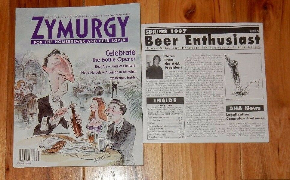 s l1600 Spring 1997 Zymurgy Home Brew Brewing Beer Magazine 22 Recipes & supplement