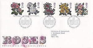 16-JULY-1991-ROSES-ROYAL-MAIL-FIRST-DAY-COVER-BETTER-BELFAST-SHS-a