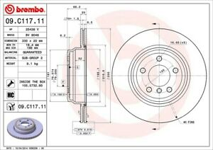 Disc-Brake-Rotor-Premium-UV-Coated-OE-Equivalent-Rotor-Rear-Brembo-09-C117-11