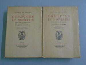 ALFRED-DE-MUSSET-COMEDIES-ET-PROVERBES-TOMES-2-2-ED-CITE-DES-LIVRES-1931