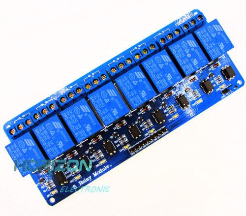 2PCS 8 Channel 5V Relay Shield Module Board Optocoupler module Arduino ARM AVR