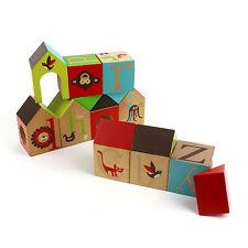 Alphabet Building Blocks Skip Hop Wooden Educational Zoo Animal House Bricks