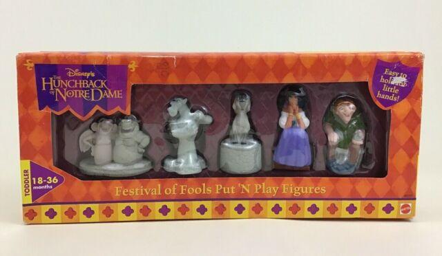 Hunchback of Notre Dame Festival of Fools Put N' Play Disney Figure Set Mattel