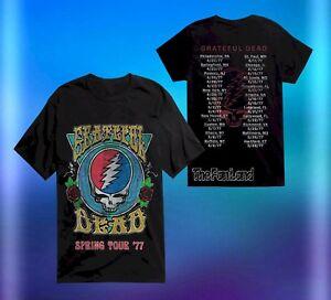 f7d64623212c New Grateful Dead Head Spring Tour 77 Dates Mens Vintage Concert T ...