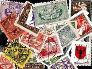 LETONIA-Letonia-colecciones-de-25-a-200-sellos-diferentes