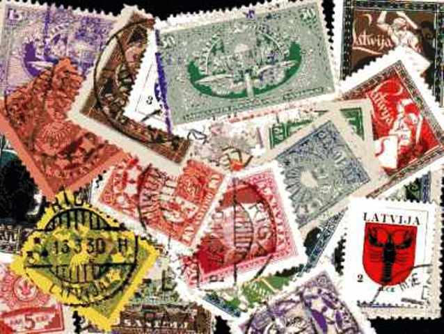 LETONIA - Letonia colecciones de 25 à 200 sellos diferentes