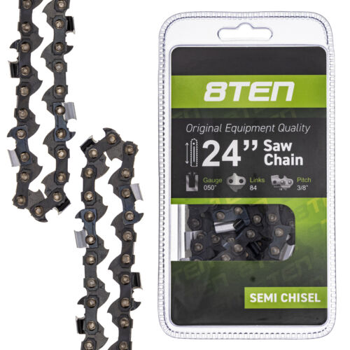 8TEN Chainsaw Chain 24 Inch Bar .050 Gauge 3//8 Pitch 84DL Poulan Stihl Husqvarna