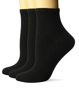 Hanes-Women-039-s-ComfortFit-Cushioned-Ankle-Socks-3-Pack-Black-9-11-Shoe-Size-5-9