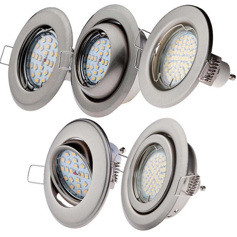 SET Einbaustrahler Edelstahl LED GU10 5W Warmweiß Einbauleuchte LED-Lampe Spot     | Modern Und Elegant In Der Mode  | Günstigstes  | eine große Vielfalt