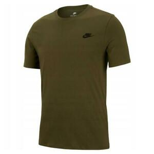 Nike-Club-Swoosh-Men-Green-Camo-T-shirt-Athletic-Jersey-Cotton-Fitness-Sport-Tee