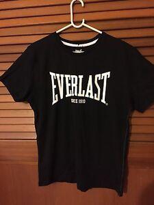 Men-039-s-Everlast-sports-black-T-shirt-Size-S