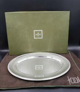 "Christofle France Malmaison-Beauharnais (Silverplate) 17"" Oval Serving Platte"