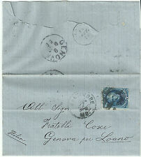 USA 1887 COVER FROM BALTIMORE TO LOANO (GENOVA) ITALY