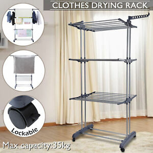 Foldable-6-Tiers-Clothes-Airer-Laundry-Drying-Rack-Clothesline-Coat-Hanger-Stand