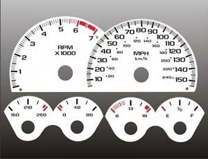 1997-1998-Camaro-150-mph-V8-Dash-Cluster-White-Face-Gauges-97-98