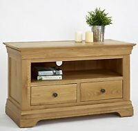 Calais Solid Oak Living Room Furniture Small Television Cabinet Stand Unit