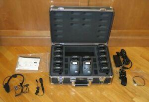 Listen Technologies 72MHz RF FM LT-700-072 Transmitter & 15 LR-400-072 Receivers