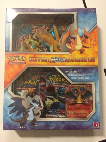 FRENCH Pokemon Charizard EX Gift Box Set, Promo, Boosters And More for Card Game
