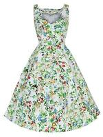 Vintage 50s Butterfly Heart Cut Out Neckline Rockabilly Swing Tea Dress 8-18