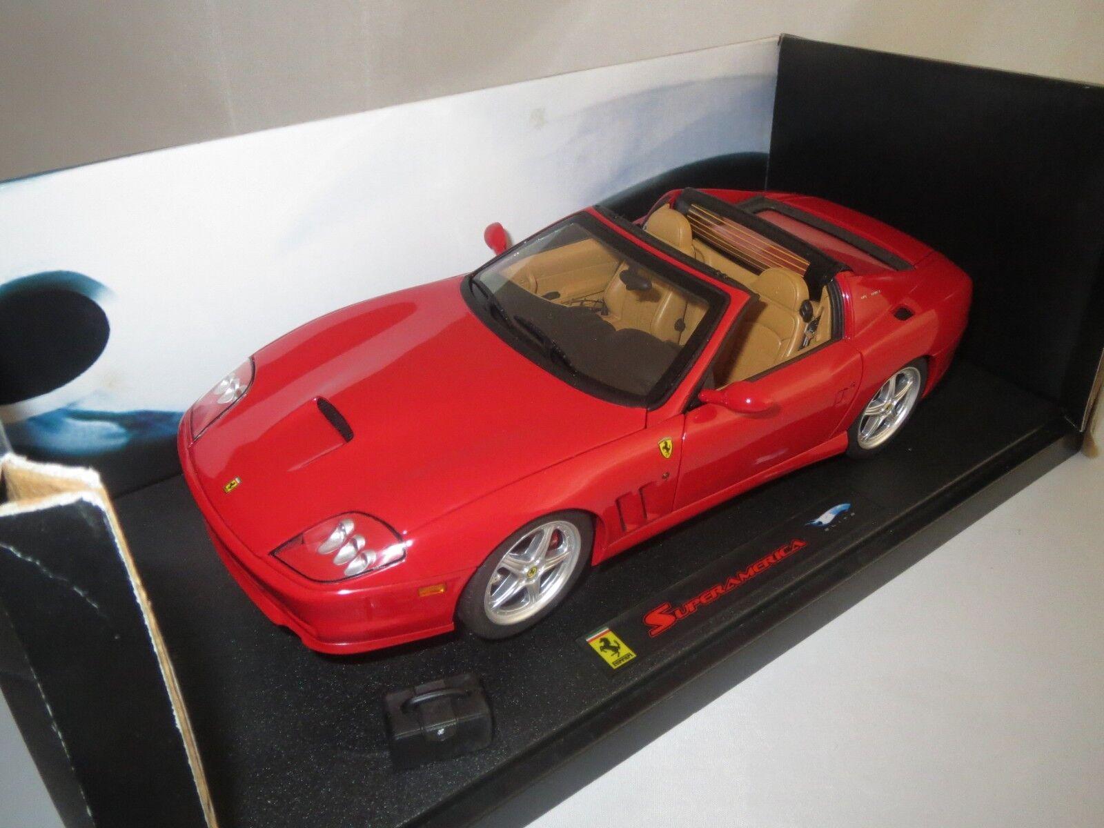Hot Wheels elite ferrari Superamerica (rojo) 1 18 original