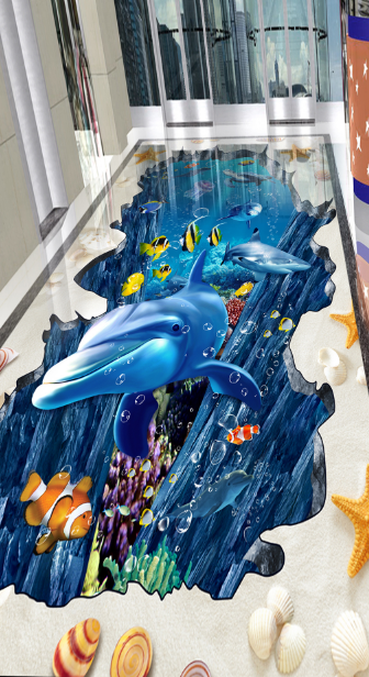 3D Sand Dolphins 52 Floor WallPaper Murals Wall Print 5D AJ WALLPAPER UK Lemon