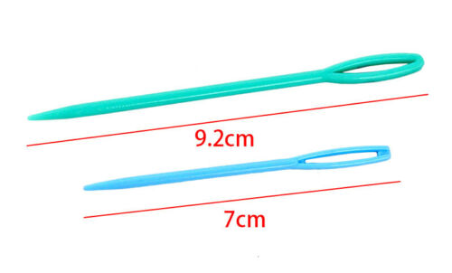 20Pcs//Set Mixed Color Plastic Safety Hand Sewing Knitting Craft Darning Needles