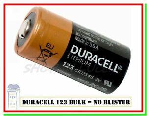 batteria cr123a 3v litio pila DURACELL 123 cr17345 bulk made in usa scade 2029