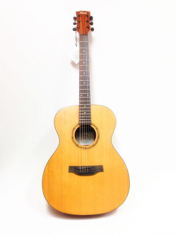 Klema Solid  Top,Jumbo Acoustic Guitar,Natural Matt With  Gig Bag K100JC