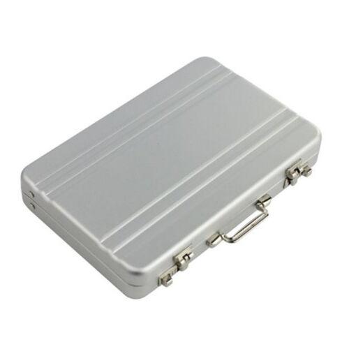 Aluminium Métal Etui Porte Carte Crédit Visite ID Billet Portefeuille Rigide NF
