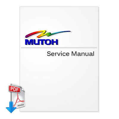 mutoh valuejet 1204 service manual 5 52 mb pdf file ebay