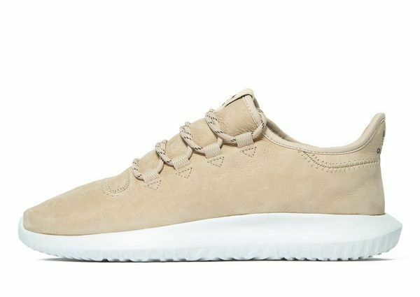 Adidas Originals Tubular Shadow en cuir beige (UK 10) NEW IN BOX