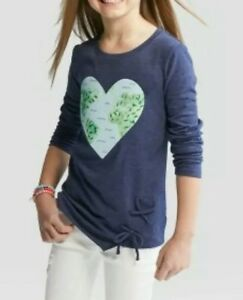 Girls-Cat-amp-Jack-Long-Sleeve-Graphic-Shirt-Blue-Size-Extra-Small-4-5-3631