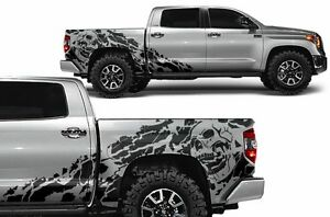 Azure Blue Factory Crafts Chevrolet Silverado 2014-2017 Crew Cab SHRED Graphics Kit 3M Vinyl Decal Wrap