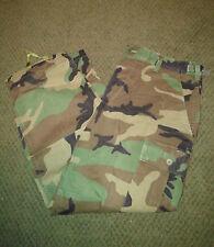 "Military Surplus Woodland Camo Uniform BDU Pants Army Medium ELASTIC HEM 25.75"""