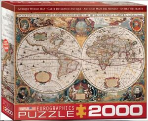 New! Eurographics jigsaw puzzle 2000 pc Antique world map