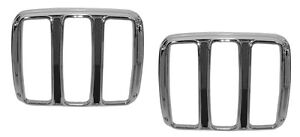 1964 1965 1966 FORD MUSTANG TAIL LIGHT BEZELS PAIR #64F-70141-M #64-10830 NEW