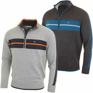 Calvin-Klein-Golf-Mens-CK-Vertex-Half-Zip-Neck-Sweater-Pullover-33-OFF-RRP
