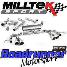 "Milltek Honda Civic Type R FK2 2016 Exhaust 3"" RACE System Cat Back Non Res Pol"