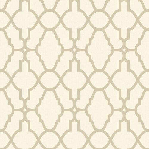 Crème//Or Casablanca Trellis Découpage Papier peint-Rasch 309317 nouveau