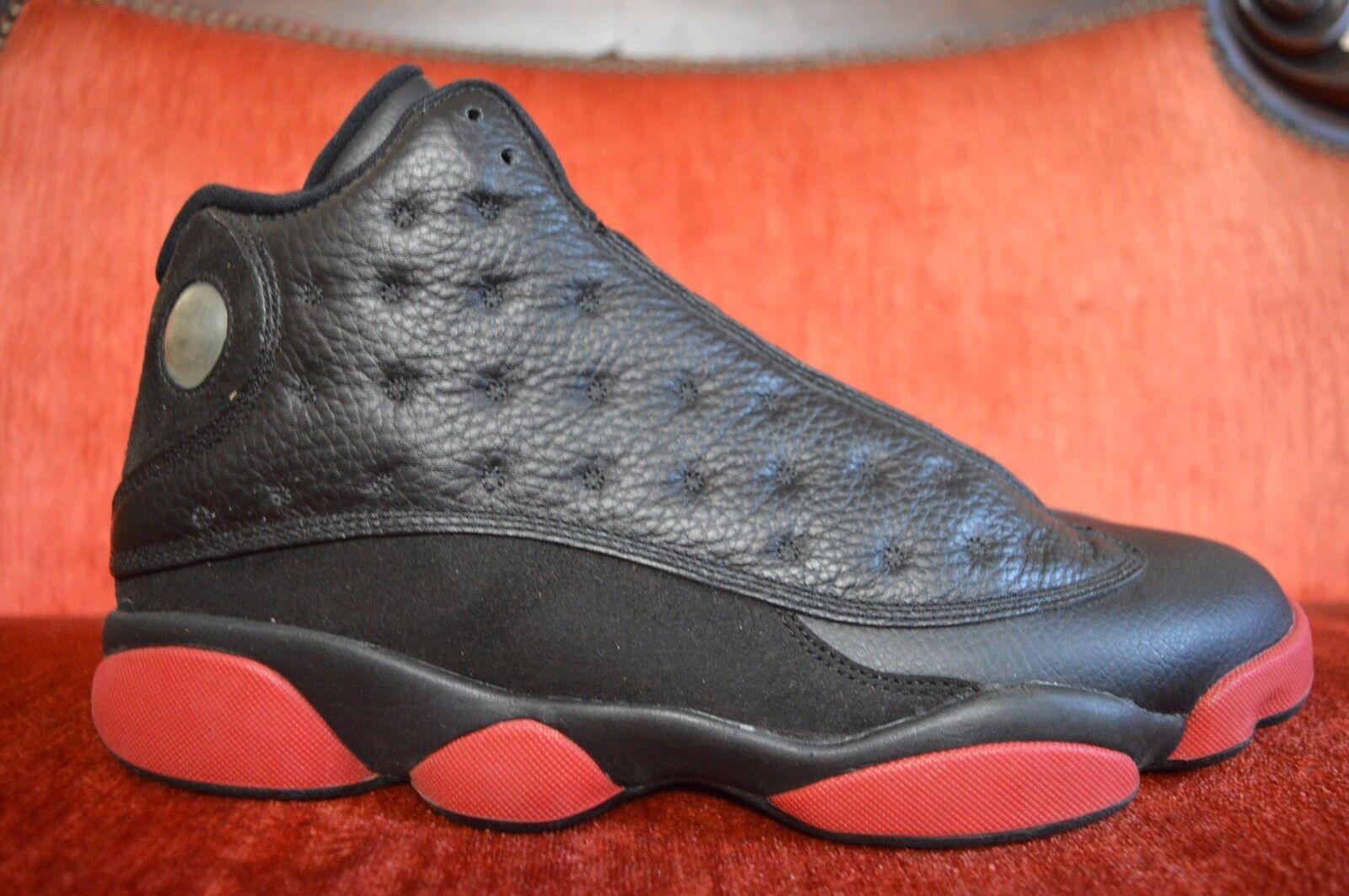 Nike air jordan sporco 13 xiii retrò sporco jordan generato nero rosso nike 414571-003 palestra taglia 11 8457bb