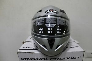 Casque Moduler Moto Airoh Sv55 Silver Taille M Scooter Approuvé