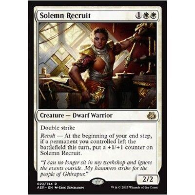 Dwarf Warrior Rare 4 x SOLEMN RECRUIT NM mtg Aether Revolt White