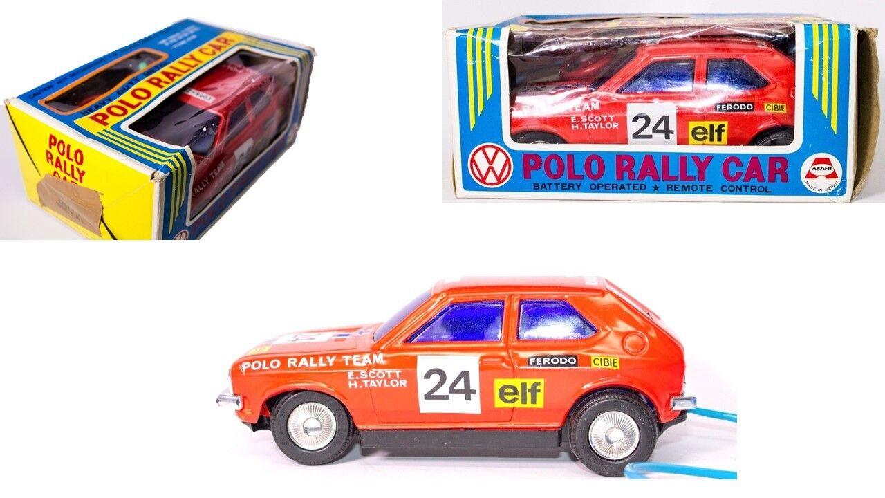 Vintage escaso japonés 1975 Volkswagen Polo  24 Rally Coche Con Caja Original