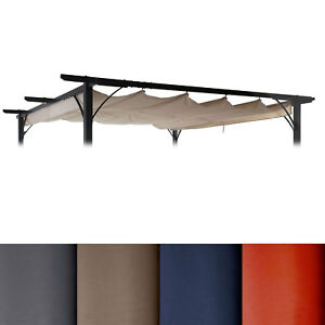 ersatzdach f r pergola 3x3m hwc c42 schiebedach bezug sonnenschutz ebay. Black Bedroom Furniture Sets. Home Design Ideas