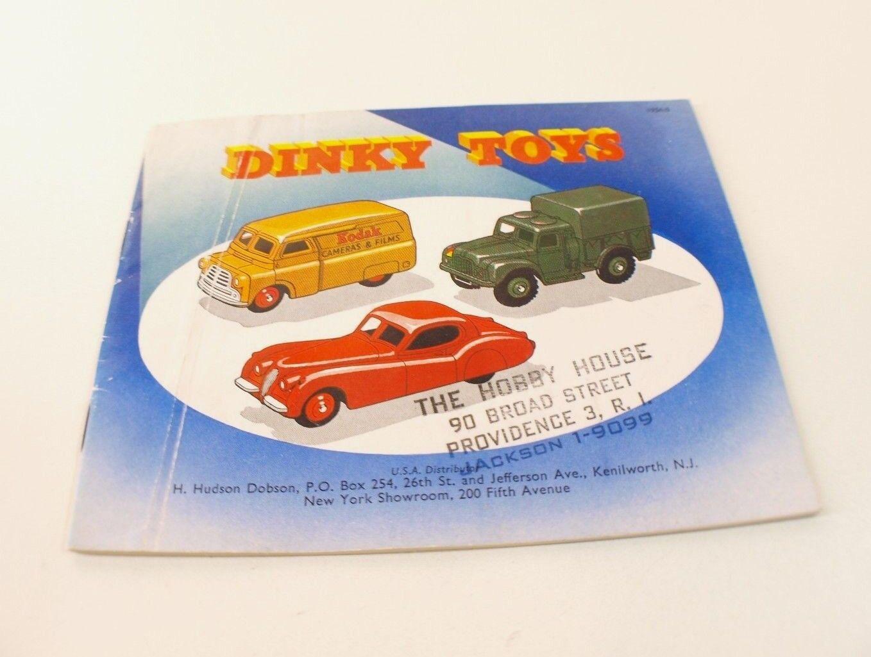 Catalogue Dinky Toys USA de 1954 tarif Hudson Dobson Hobby House Providence RARE